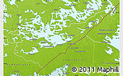 Physical Map of Etelä-Karjala