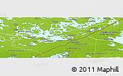 Physical Panoramic Map of Etelä-Karjala