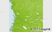 Physical 3D Map of Satakunta