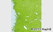 Physical Map of Satakunta