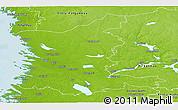 Physical Panoramic Map of Satakunta