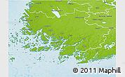Physical 3D Map of Varinais-Suomi