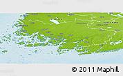 Physical Panoramic Map of Varinais-Suomi