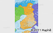 Political Shades Map of Finland