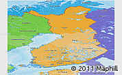 Political Shades Panoramic Map of Finland