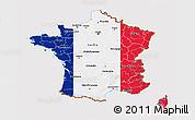 Flag 3D Map of France