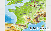 Physical 3D Map of France