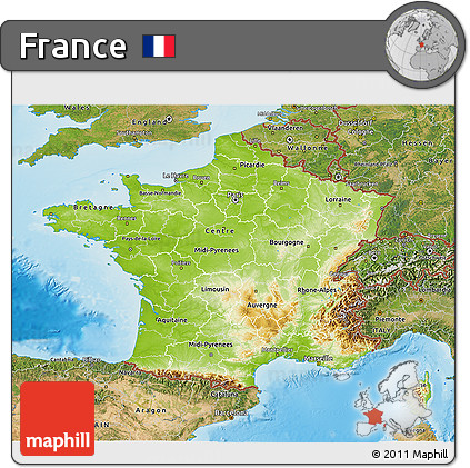 Map Of France Physical.Free Physical 3d Map Of France Satellite Outside Shaded Relief Sea
