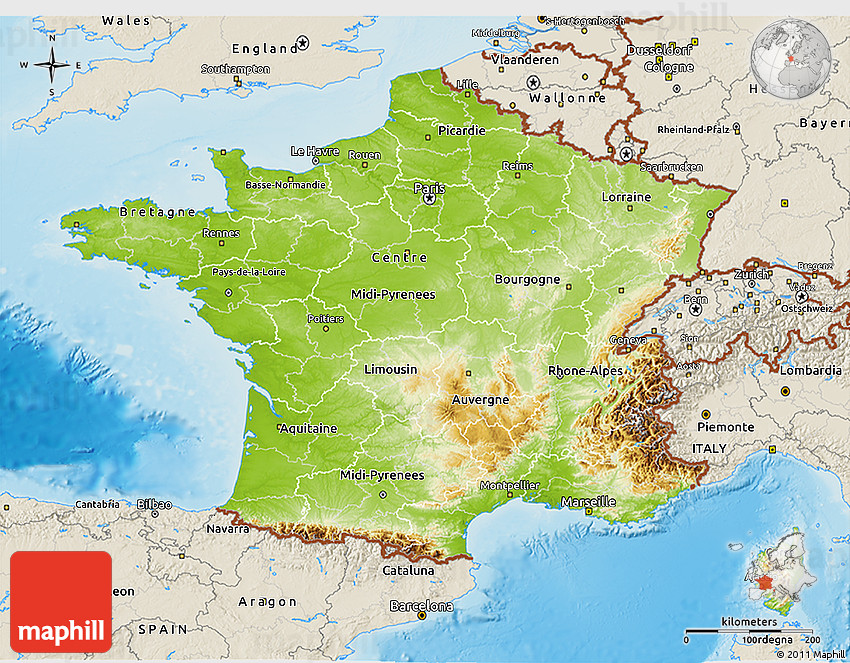 Map Of France Physical.Physical 3d Map Of France Shaded Relief Outside