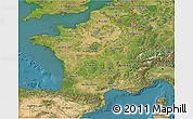 Satellite 3D Map of France