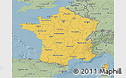 Savanna Style 3D Map of France