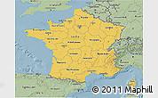 Savanna Style 3D Map of France