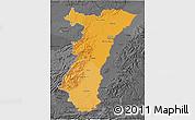 Political Shades 3D Map of Alsace, darken, desaturated
