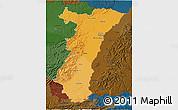 Political Shades 3D Map of Alsace, darken