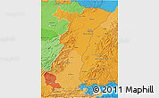 Political Shades 3D Map of Alsace