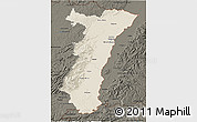 Shaded Relief 3D Map of Alsace, darken
