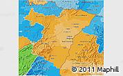 Political Shades 3D Map of Bas-Rhin