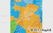 Political Shades Map of Bas-Rhin