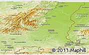 Physical Panoramic Map of Haut-Rhin