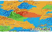 Political Panoramic Map of Haut-Rhin