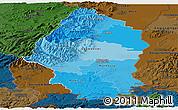 Political Shades Panoramic Map of Haut-Rhin, darken