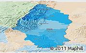 Political Shades Panoramic Map of Haut-Rhin, lighten