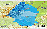 Political Shades Panoramic Map of Haut-Rhin, physical outside
