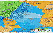 Political Shades Panoramic Map of Haut-Rhin