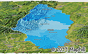 Political Shades Panoramic Map of Haut-Rhin, satellite outside