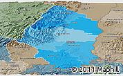 Political Shades Panoramic Map of Haut-Rhin, semi-desaturated