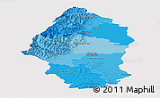 Political Shades Panoramic Map of Haut-Rhin, single color outside