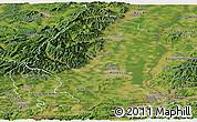 Satellite Panoramic Map of Haut-Rhin