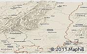 Shaded Relief Panoramic Map of Haut-Rhin