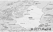 Silver Style Panoramic Map of Haut-Rhin