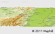 Physical Panoramic Map of Ribeauvillé