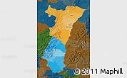 Political Map of Alsace, darken