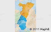 Political Map of Alsace, lighten