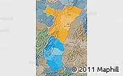 Political Map of Alsace, semi-desaturated