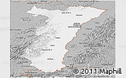 Gray Panoramic Map of Alsace