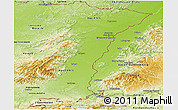 Physical Panoramic Map of Alsace