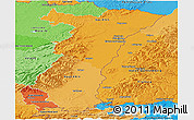 Political Shades Panoramic Map of Alsace