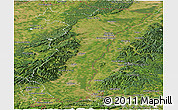 Satellite Panoramic Map of Alsace