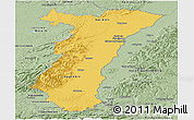 Savanna Style Panoramic Map of Alsace