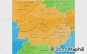 Political Shades 3D Map of Dordogne