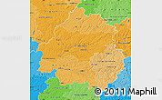 Political Shades Map of Dordogne
