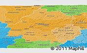 Political Shades Panoramic Map of Dordogne