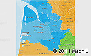 Political Shades 3D Map of Gironde