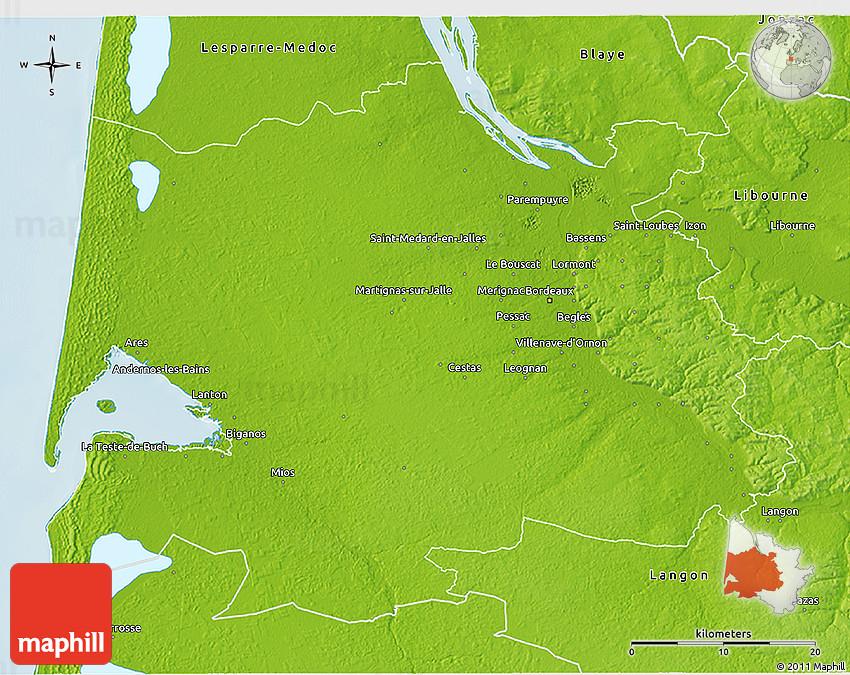 France map of bordeaux Bordeaux
