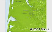 Physical 3D Map of Bordeaux