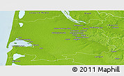 Physical Panoramic Map of Bordeaux